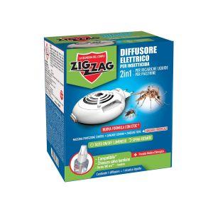 ZIG ZAG Diffusore con Ricarica Insetticida Liquida 30ml