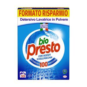 BIO PRESTO Detersivo Lavatrice in Polvere 50 Misurini 2,75kg