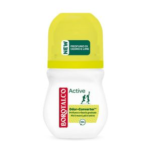BOROTALCO Deodorante Roll-On Active Odor Converter Profumo di Cedro e Lime 50ml