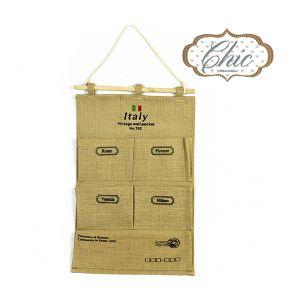 CHIC Appendino Con Tasche in Juta