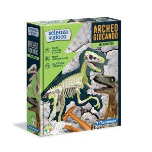 CLEMENTONI Archeogiocando Velociraptor