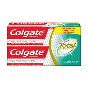 COLGATE Dentifricio Total Active Fresh 75ml 2 Pezzi