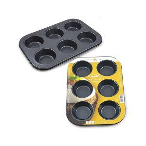 CUCINA&CASA Teglia Muffin 6 Stampi 26.5x18.5x3.0 cm