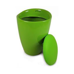 DECOR CASA Pouf Contenitore Verde