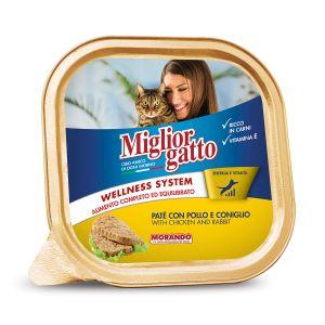 MIGLIOR GATTO Vaschetta Pollo e Coniglio 100 gr