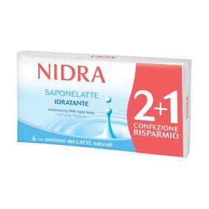 NIDRA Sapone Latte 2+1 pezzi 90 gr