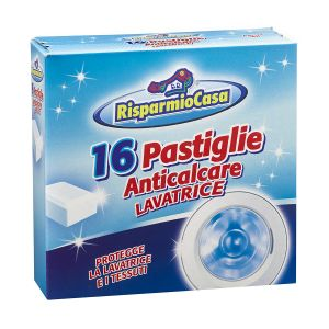 RISPARMIO CASA Anticalcare 16 Pastiglie Lavatrice