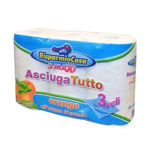 RISPARMIO CASA Asciugatutto Aroma 3 Rotoli 3 Veli