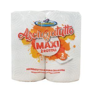 RISPARMIO CASA Asciugatutto Maxi 2 Rotoli