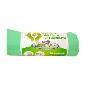 RISPARMIO CASA Buste Raccolta Differenziata 70x110 Verde
