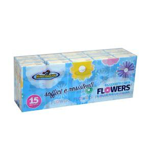 RISPARMIO CASA Fazzoletti Flower 4 Veli 15x9