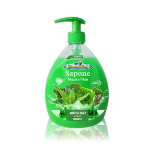 RISPARMIO CASA Sapone Liquido Muschio e Aloe 1 L