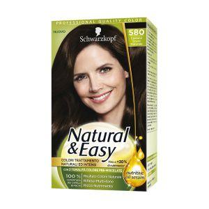 SCHWARZKOPF Natural&Easy Colorazione Permanente 580 Castano Scuro Naturale