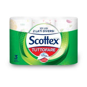 SCOTTEX Tuttofare 3 Rotoli 101 Usi 2 Lati