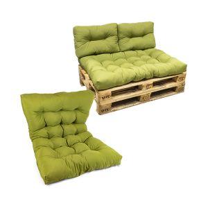SUMMER LIFE Cuscino Pallet Seduta 80x120x12 cm Verde