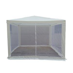 SUMMER LIFE Gazebo Con Zanzariera 3x3mt Bianco 300x300x245 cm