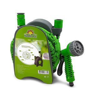 SUMMER LIFE Pistola Attrezzo da Giardino con 7 Funzioni + Tubo Colore Verde