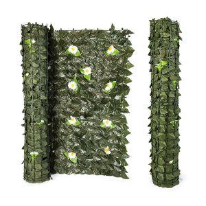 SUMMER LIFE Siepe Artificiale Verde con Fiori 1x3 mt