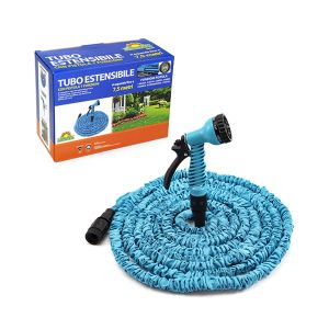SUMMER LIFE Tubo Estensibile Con Pistola Lunghezza 2,5-7,5 mt Colore Blu