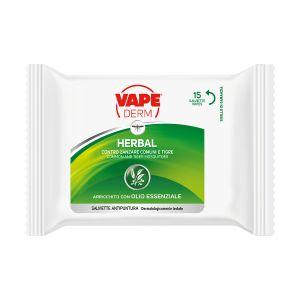 VAPE Derm Herbal Salviette Antipuntura 15pz.