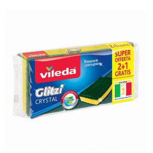 VILEDA Glitzi Fibra Verde 2+1 pezzi