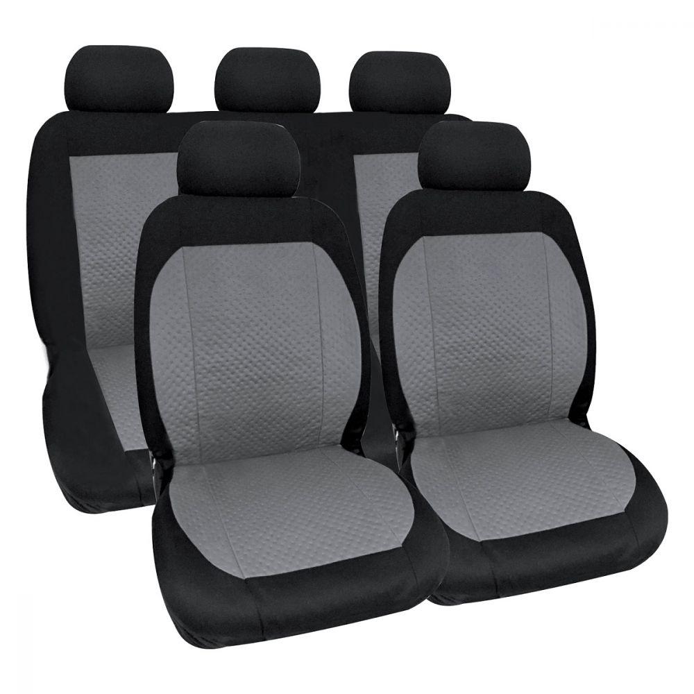 Protezioni per la Parte Anteriore e Posteriore del Sedile in Pelle Sintetica Premium CAR PASS Coprisedili Universali per Auto 11 Pezzi Set Completo di Fodere per Seggiolino Auto