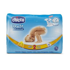 CHICCO Dry Fit Pannolini Mini 3-6kg 50 Pezzi - Tg 2