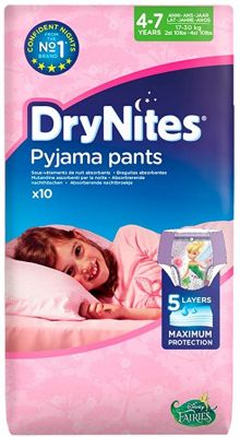 DRYNITES Girl Medium 4-7 anni 17-30 KG