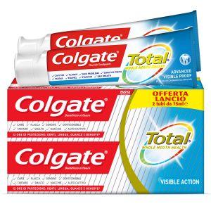 COLGATE Dentifricio Total Visible Action 2x75ml