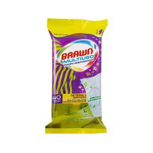 BRAWN Panni Igienizzanti Multiuso 40 pezzi