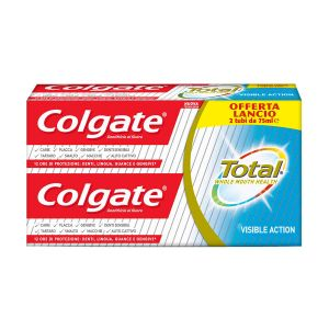 COLGATE Dentifricio Total Visible Action 75ml 2 Pezzi