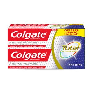 COLGATE Dentifricio Total Whitening 75ml 2 Pezzi