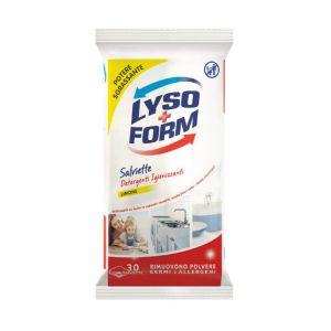 LYSOFORM Salviette Igienizzanti Superfici Limone 30 Pezzi