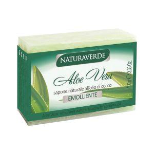 NATURAVERDE Sapone Naturale all'Olio di Cocco Aloe Vera Emoliente 100 gr