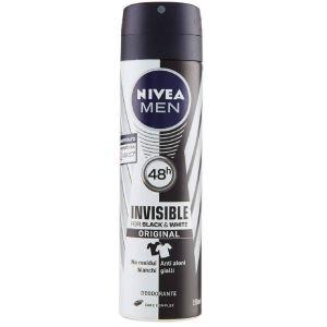 NIVEA Deodorante Spray Uomo Black & White Invisible 150 ML