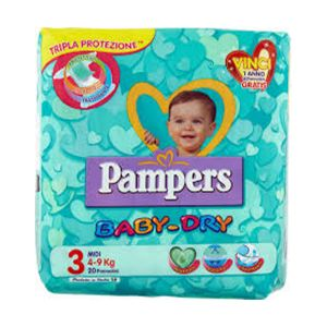 PAMPERS Baby Dry Midi 4-9kg 20 Pezzi
