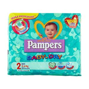 PAMPERS Baby Dry Mini 3-6kg 24 Pezzi