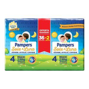 PAMPERS Sole & Luna Pannolini Maxi 36+2