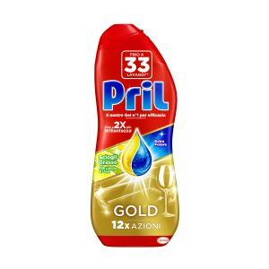 PRIL Gold Gel Detersivo Lavastoviglie Lemon 600ml