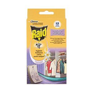 RAID Foglietti Antitarme 12 pezzi