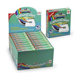 RISPARMIO CASA Acchiappacolori Antibatterico Plus 24 Pezzi