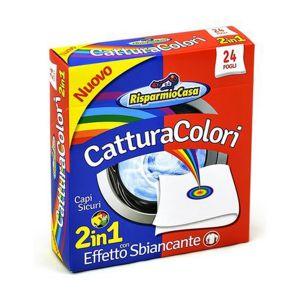 RISPARMIO CASA Acchiappacolori Sbincante 2In1 24 Pezzi