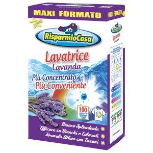 RISPARMIO CASA Detersivo Lavatrice in Polvere Lavanda 100 Misurini