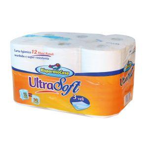 RISPARMIO CASA Carta Igienica 12 Rotoli Maxi Ultra Soft