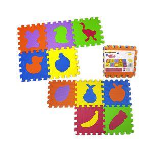 RISPARMIO CASA Mattonelle Puzzle Animali/Frutta x 5 pezzi 31,5x31,5 cm