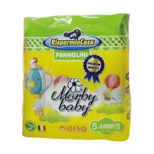 RISPARMIO CASA Pannolini Morby Premium 12-25kg 16 Pezzi