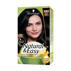 SCHWARZKOPF Natural&Easy Colorazione Permanente 590 Nero Naturale