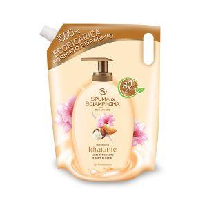 SPUMA DI SCIAMPAGNA Ecoricarica Sapone Crema Latte di Mandorla 1.5L