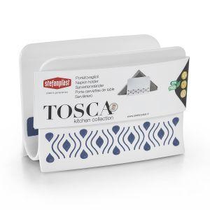 STEFANPLAST Portatovaglioli Tosca Bianco/Palace Blu