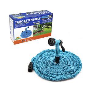 SUMMER LIFE Tubo Estensibile Con Pistola Lunghezza 5-15 mt Colore Blu